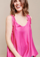 TOP ITALIA SATIN FUCSIA