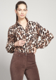 BLUSA ESTAMPADO LEOPARDO CAFE